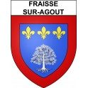 Stickers coat of arms Fraisse-sur-Agout adhesive sticker