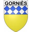 Gorniès 34 ville Stickers blason autocollant adhésif