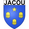 Stickers coat of arms Jacou adhesive sticker