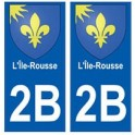 2B Ile-Rousse autocollant plaque blason armoiries stickers ville