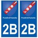 2B Prunelli-di-Fiumorbo autocollant plaque blason armoiries stickers ville