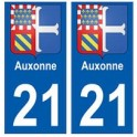 21 Auxonne blason autocollant plaque stickers ville