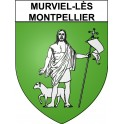 Stickers coat of arms Murviel-lès-Montpellier adhesive sticker