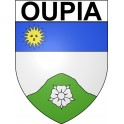 Stickers coat of arms Oupia adhesive sticker