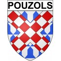 Stickers coat of arms Pouzols adhesive sticker