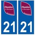 21 Chenôve logo autocollant plaque stickers ville