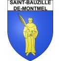 Stickers coat of arms Saint-Bauzille-de-Montmel adhesive sticker