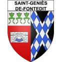 Stickers coat of arms Saint-Geniès-de-Fontedit adhesive sticker