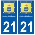21 Chevigny-saint-sauveur blason autocollant plaque stickers ville