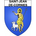 Stickers coat of arms Saint-Jean-de-Cornies adhesive sticker