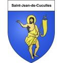 Stickers coat of arms Saint-Jean-de-Cuculles adhesive sticker
