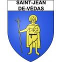 Stickers coat of arms Saint-Jean-de-Védas adhesive sticker