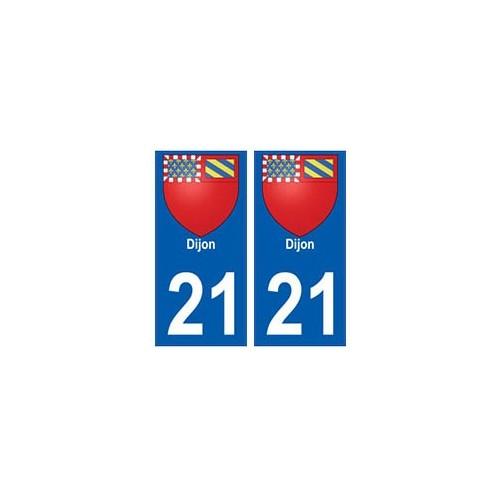 21 Dijon blason autocollant plaque stickers ville