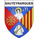 Stickers coat of arms Sauteyrargues adhesive sticker