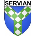 Stickers coat of arms Servian adhesive sticker