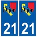 21 Dijon logo autocollant plaque stickers ville