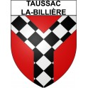 Stickers coat of arms Taussac-la-Billière adhesive sticker