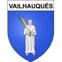 Vailhauquès 34 ville Stickers blason autocollant adhésif