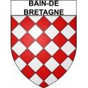 Bain-de-Bretagne 35 ville Stickers blason autocollant adhésif