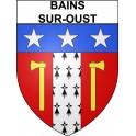 Bains-sur-Oust 35 ville Stickers blason autocollant adhésif
