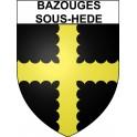 Bazouges-sous-Hede 35 ville Stickers blason autocollant adhésif