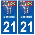 21 Montbard blason autocollant plaque stickers ville
