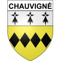 Stickers coat of arms Chauvigné adhesive sticker