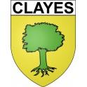 Clayes 35 ville Stickers blason autocollant adhésif