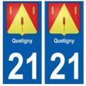 21 Quetigny blason autocollant plaque stickers ville