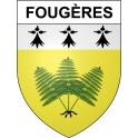 Fougères 35 ville Stickers blason autocollant adhésif