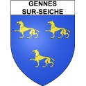 Stickers coat of arms Gennes-sur-Seiche adhesive sticker