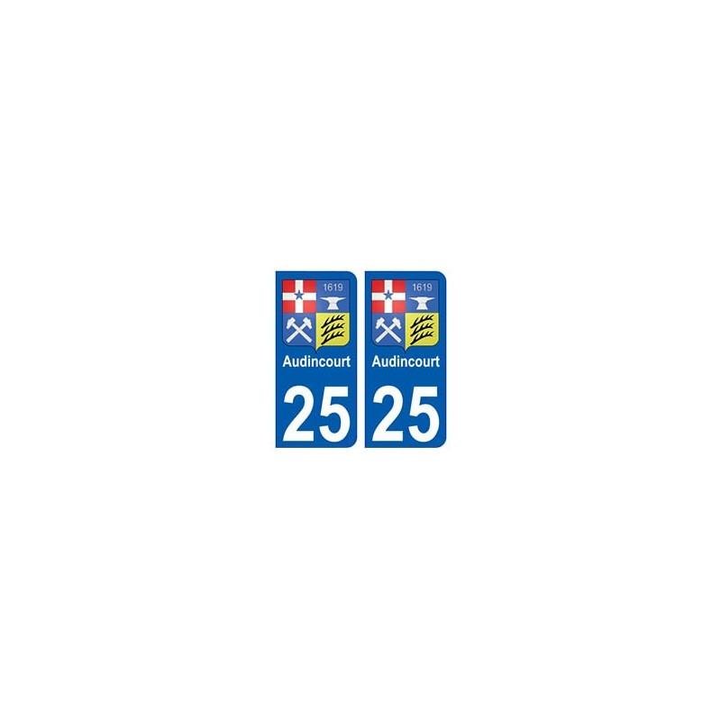25 audincourt blason autocollant plaque immatriculation stickers ville. Black Bedroom Furniture Sets. Home Design Ideas