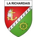 Stickers coat of arms La Richardais adhesive sticker