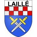 Stickers coat of arms Laillé adhesive sticker