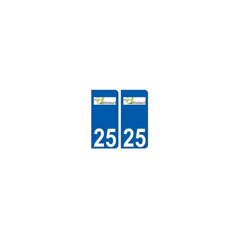 25 audincourt logo autocollant plaque immatriculation. Black Bedroom Furniture Sets. Home Design Ideas
