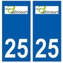 25 Audincourt logo autocollant plaque stickers ville