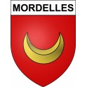 Stickers coat of arms Mordelles adhesive sticker