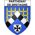 Stickers coat of arms Parthenay-de-Bretagne adhesive sticker
