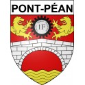 Stickers coat of arms Pont-Péan adhesive sticker