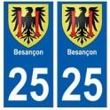25 Besançon blason autocollant plaque stickers ville