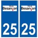 25 Besançon logo autocollant plaque stickers ville