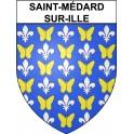 Saint-Médard-sur-Ille 35 ville Stickers blason autocollant adhésif