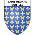 Stickers coat of arms Saint-Médard-sur-Ille adhesive sticker