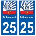 25 Béthoncourt blason autocollant plaque stickers ville