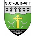 Stickers coat of arms Sixt-sur-Aff adhesive sticker