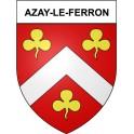 Stickers coat of arms Azay-le-Ferron adhesive sticker
