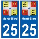 25 Montbéliard blason autocollant plaque stickers ville