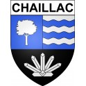 Stickers coat of arms Chaillac adhesive sticker