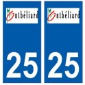 25 Montbéliard logo autocollant plaque stickers ville