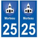 25 Morteau blason autocollant plaque stickers ville